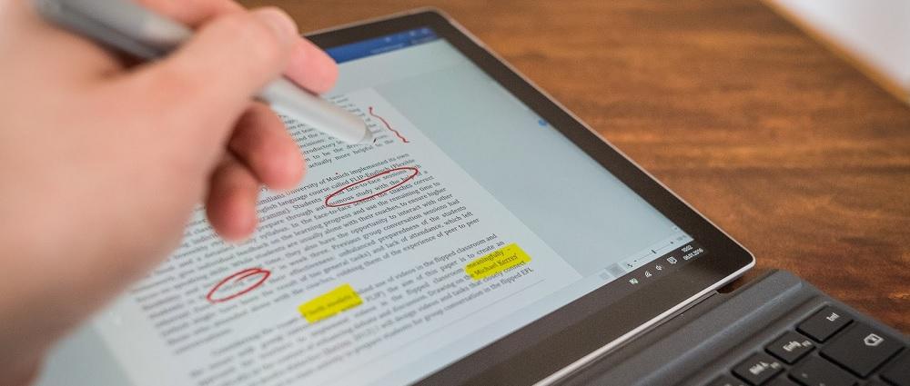 Microsoft Word auf dem Surface Pro 4