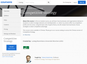 competitive strategy mooc lmu
